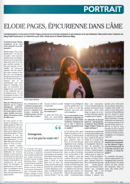 Le petit journal Toulouse - Portrait Elodie Pages